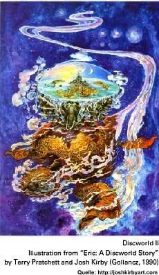 Scheibenwelt, gezeichnet von Josh Kirby, Quelle: http://joshkirbyart.com