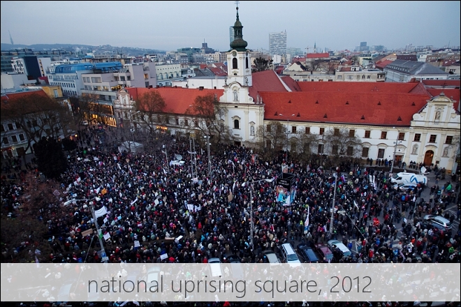 the square of protests, 2012