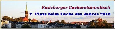 Stichprobe - 2. Platz beim Radeberger Cacherstammtisch 2013
