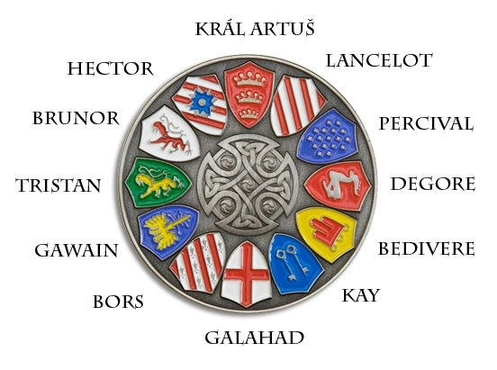 Beau Attributed Arms Of The Knights Of The Round Table : Heraldry