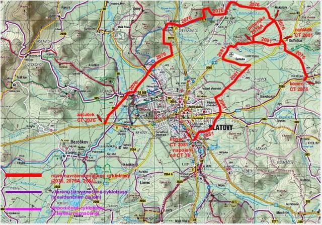 Mapa cyklotras