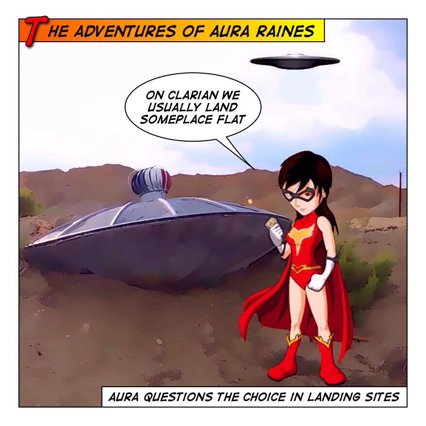 Aura Raines Does not crash saucers