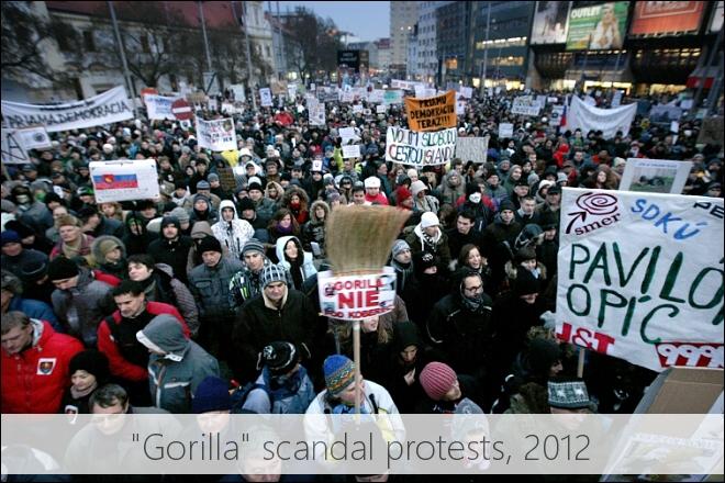 Gorilla scandal protests in 2012