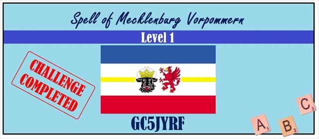 Spell of Mecklenburg Vorpommern Level 1 Challenge am 13.05.2017