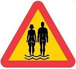 Varning för nudister