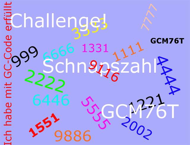 gc5m76t challenge schnapszahl unknown cache in