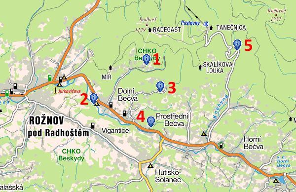 Mapa okoli