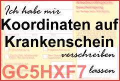 Banner: Koordinaten auf Krankenschein (GC5HXF7)